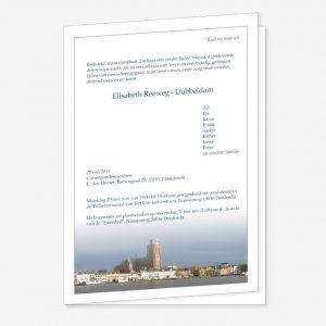 Rouwkaart Grote Kerk Dordrecht