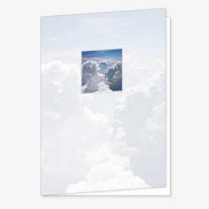 Rouwkaart Wolken