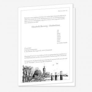 Rouwkaart Zwijndrecht Pentekening