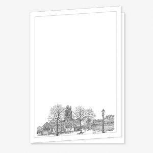 Rouwkaart Grote Kerk Dordrecht Pentekening