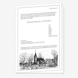 Rouwkaart Hendrik Ido Ambacht – Plein met kerk