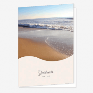 Rouwkaart Strand en zee