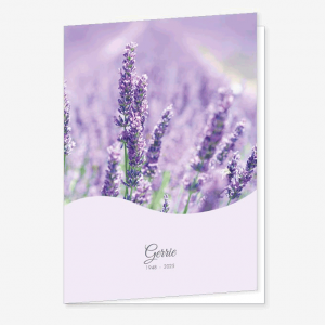 Rouwkaart Lavendel