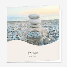 Rouwkaart Gestapelde stenen