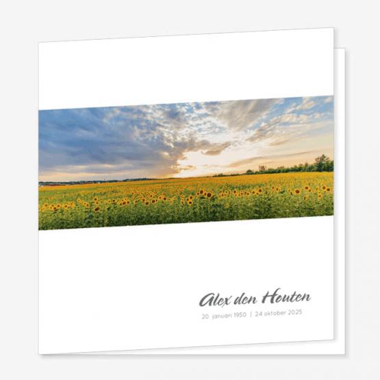 Rouwkaart Veld zonnebloemen