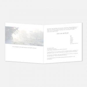 Rouwkaart Ochtendzon in rijp vierkant